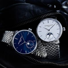 Adding Style to Manufacture FREDERIQUE CONSTANT Slimline Moonphase Manufacture (See more at En/Fr/Es: http://watchmobile7.com/articles/frederique-constant-slimline-moonphase-manufacture) (1/4) #watches #frederiqueconstant @Frederique Constant