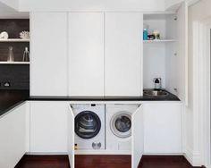 laundry cupboard near window - Google Search