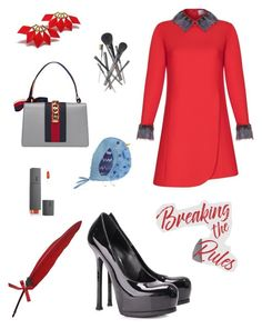 """Breaking the Rules"" by magic-mia on Polyvore featuring Fountain, Yves Saint Laurent, Gucci, Joe Fresh, dreambig, powerwoman, mindfulness, polyvorefashion and everydaywithstyle"