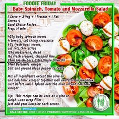 Weigh-Less Good Choice Recipe Dip Recipes, Yummy Recipes, Salad Recipes, Healthy Eating Recipes, Healthy Meals, Easy Meals, Cooking Recipes, Salad Dishes