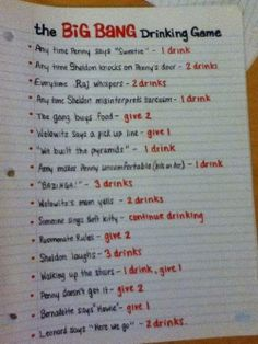 the big bang drinking game ! holiday-party-ideas