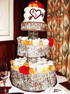 diy rustic dessert stand
