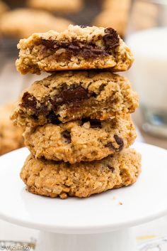 For my beloved Kate! Sour Cherry and Dark Chocolate Granola Cookies by carlsbadcravings