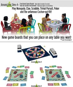 Game Boards by Sandy at Around the Sims 4 • Sims 4 Updates