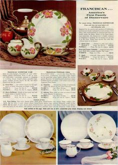 Franciscan dinnerware ad