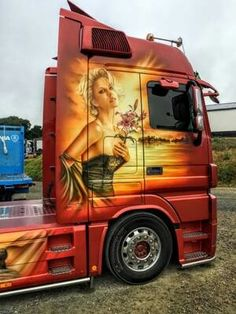 Customised Trucks, Custom Trucks, Show Trucks, Big Trucks, Freightliner Trucks, Mercedes Benz Trucks, Truck Paint, Custom Big Rigs, Trucks And Girls
