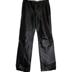 Spiegel Woman's 100% GENUINE Leather Dress Pants Size 6 PERFECT CONDITION #Spiegel #Leather