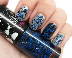 Maybelline Color Show - Nighttime Noise (over Zoya Dove and Sinful Colors Black on Black)