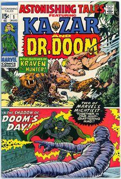 Astonishing Tales #1 featuring Ka-Zar and Dr. Doom