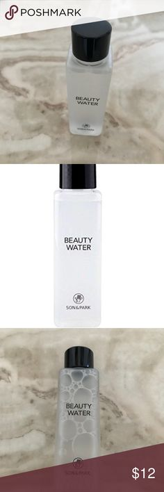 Son and Park Beauty Water Son and Park Beauty Water 60ml Smart Facial Cleansing Water  94% NATURAL ORIGIN - Gently revitalizes skin without irritation CLEANSING - Natural ingredients obtained from plants such as coconut, corn, potato, and wheat tidy up the skin clean by removing dead skin cells MOISTURIZING - The moisturizing effect of 20 kinds of plant-derived ingredients makes the skin feel moisturized and elastic Son And Park Makeup Face Primer