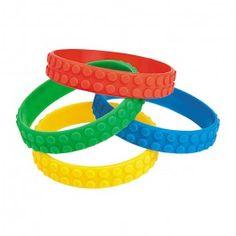 Lego Party Supplies, Color Brick Bracelets, Party Favors
