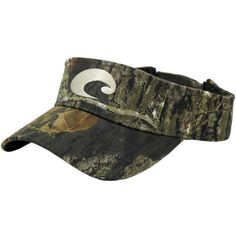 fef38819f3458 Cotton Visor in Mossy Oak Camo by Costa Sunglasses ($78) ❤ liked on  Polyvore featuring accessories, hats, visor hats, camouflage hats, sun visor  hat, ...