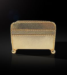 Napkin Holder With Swarvoski Line  This elegantly designed napkin holder with contemporary design and glossy finish is a marvelous piece to add to your collection from the gold collection.  http://www.thedivineluxury.com/product/Napkin-Holder-With-Swarvoski-Line.html