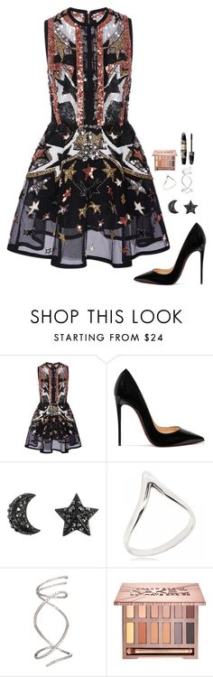 """Untitled #948"" by h1234l on Polyvore featuring Elie Saab, Christian Louboutin, Urban Decay and Max Factor"