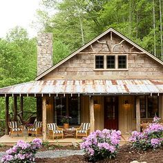 Whisper Creek | Rustic, yet comfortable, porches provide the perfect perch to relax and enjoy the views of this mountainside retreat. | SouthernLiving.com