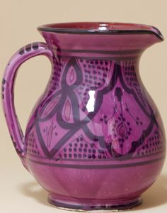 Moroccan Safi Design Water Jug in Purple