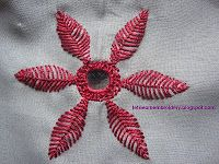 Let's learn embroidery: Mirror work 1 (fly stitch petals)