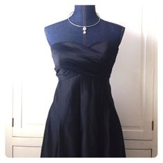 Melissa Sweet Dress Great for prom, a wedding or any other event you want to look fabulous at!! Size 6 but fits like a small. I'm a 32 C, size 4 small and this is snug. This dress has 2 pockets. I do not have the spaghetti straps for it. The fabric has a silky sheen to it and a liner on the inside. Melissa Sweet Dresses Prom