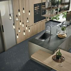 OPERA Industrial Kitchen With Island Without Handles 5