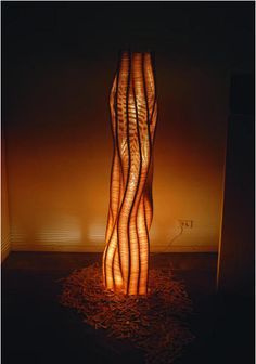 popsicle stick table lamp - Google Search