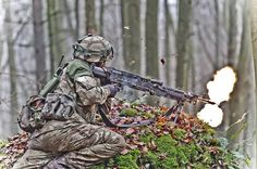 A British Officer Cadet providing fire-support with an GPMG on a final practice of his 44 week initial training. Warriors, Guns, British, Military, Training, Fire, Lifestyle, Day, Weapons Guns