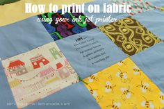 Serving Pink Lemonade: How To Add an Image Onto Fabric Using Your Ink Jet Printer