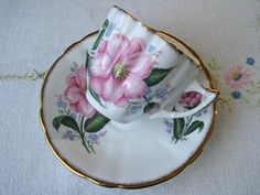 Imperial bone china tea cup and saucer set by VolvoxVintageShop.