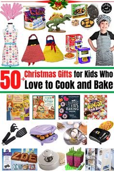Have your Kids experience a magical Christmas this year with this 50+ Christmas gifts ideas for kids who love to cook and bake that they will surely enjoy and love. Gifts to encourage kids to spend more time in the kitchen helping prepare food. #kidcooking #kidbaking #kidsgifts #giftguide #giftsforkids #kidchefs #kidbakers #christmasgiftideas #christmasgifts #christmasgiftsforkids #kidsbakingchristmasgift #kidscookingchristmasgifts