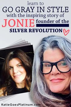 After 30  years of dyeing, Jonie, the founder of the gray hair Facebook group Silver Revolution, decided to ditch the dye and let her long brunette hair go gorgeously gray!  Check out her tips for the gray hair transition at 50.  Her long silver hair is simply gorgeous, and shows that those old rules about cutting your hair short over 40 are way outdated! Long Silver Hair, Short Grey Hair, Short Hair Styles, Dye My Hair, Your Hair, Hair Gummies, Grey Hair Journey, Grey Hair Over 50, Long Brunette Hair