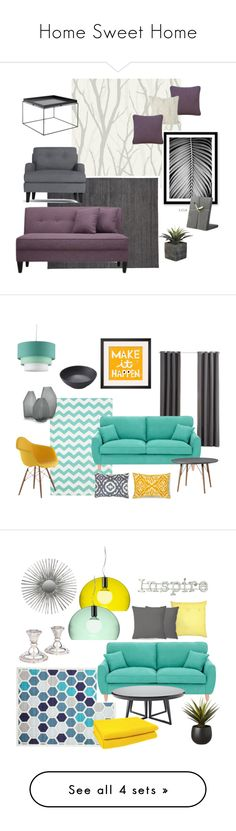 """Home Sweet Home"" by arvai-andrea on Polyvore featuring interior, interiors, interior design, home, home decor, interior decorating, Today Interiors, Design Within Reach, HAY and Kelly Wearstler"