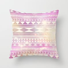 Galaxy Tribal Throw Pillow by Haleyivers - $20.00