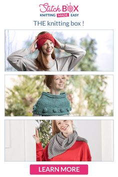 Stitch box is a knitting box which will help you create wonderful creations! Stitch Box, Make It Simple, Creations, Crochet Hats, Knitting, Pattern, Collection, Create, Easy