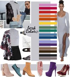 Color Wheel Fashion, Colour Combinations Fashion, Winter Outfits Women, Winter Outfits For Work, Colourful Outfits, Colorful Fashion, Fashion Advice, Fashion Outfits, Ny Fashion Week