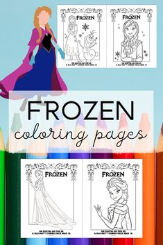 Free printable Frozen coloring pages and activities for kids.