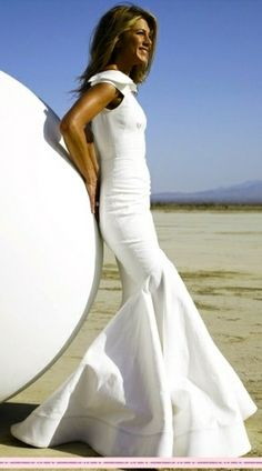 #white #dress #model #runway by Stacie09