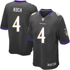 Nike NFL Baltimore Ravens 4 Sam Koch Limited Youth Black Alternate Jersey Sale