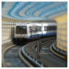 À s'y méprendre! Tilt Shift Photography, Amazing Photography, Travel Photography, Optical Illusion Paintings, Optical Illusions, Tilt Shift Photos, Tilt Shift Lens, Metro Subway, Mini Me