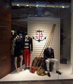 GANT windows, London visual merchandising nautical theme