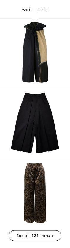 """""""wide pants"""" by asterplaster ❤ liked on Polyvore featuring pants, capris, bottoms, wide leg linen trousers, wide leg linen pants, linen trousers, wide leg trousers, wide leg cropped pants, black and trousers"""