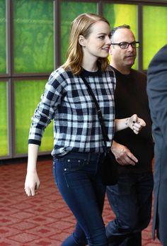 Emma Stone Arriving La La Land Q&A in Hollywood on Dec 11
