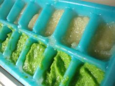 how to thaw homemade baby food