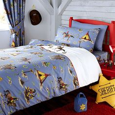 kids cowboys and indians bed linen collection dunelm baby nursery furniture teddington collection