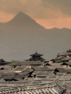 Lijiang Rooftops, China