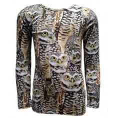 Wild kinderkleding t-shirt Owls - Kinderkleding online. Scherp zicht heb je vanzelf met de uilen uit de wintercollectie 2014