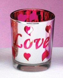 Love Metallic Glass Tea Light Candle Holders, Set of 12 Glass Votive Candle Holders, Candle Holder Set, Votive Candles, Candle Accessories, Metallic, Tableware, Decor, Dinnerware, Decoration