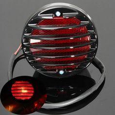 Motorcycle Tail Brake Red License Plate Light For Harley Bobber Chopper Rat