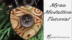 This tutorial leads on from my Pills and Coffee Swellegant Veneer technique. In this second part I'll be showing you how to create what I call my Mayan Polymer Clay Medallion. Easy Polymer Clay, Polymer Clay Sculptures, Polymer Clay Canes, Polymer Clay Pendant, Polymer Clay Projects, Polymer Clay Jewelry, Simple Snowflake, Maya, Necklace Tutorial