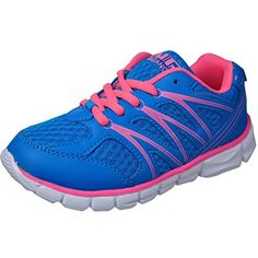2f40a3a9df38 stunning Air Balance Girls Lightweight Cross Trainer Shoes -Blue Hot Pink  Bowling Shoes