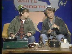 Canadian hosers the MacKenzie Brothers, Bob and Doug, show us how to get free beer. Beauty advice, eh. From the old Second City Television show of the early 1980s.