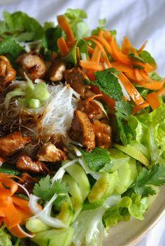 Salade façon Rouleau de Printemps